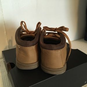 Children's Place Shoes - Brown/Tan Faux Suede Booties